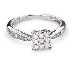 """Auksinis žiedas su deimantais """"Mylimasis 47"""""""