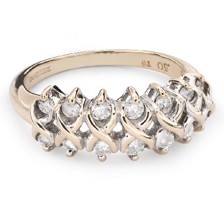 """Auksinis žiedas su briliantais """"Briliantinė gėlė 49"""""""