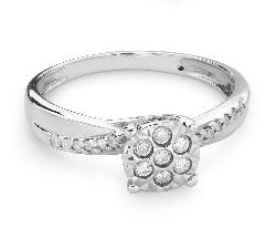 """Auksinis žiedas su deimantais """"Mylimasis 117"""""""