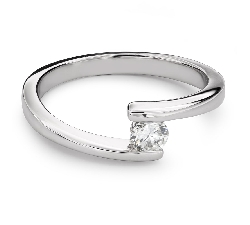 """Engagement ring with brilliant """"Between the rocks 26"""""""