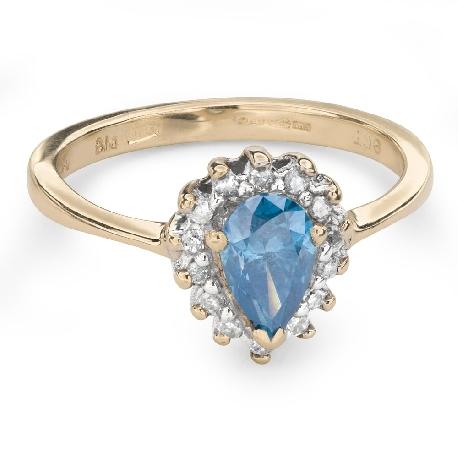 """Auksinis žiedas su deimantais """"Spalvos 61"""""""