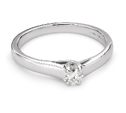 """Engagement ring with brilliant """"Intertwined destinies 46"""""""