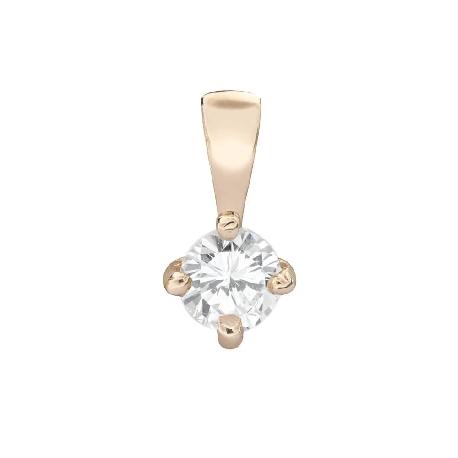 "Gold pendant with brilliant ""Classic 48"""