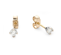 """Gold earrings with brilliants """"Classic 49"""""""