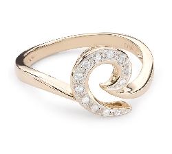 """Auksinis žiedas su deimantais """"Gyvybė 32"""""""