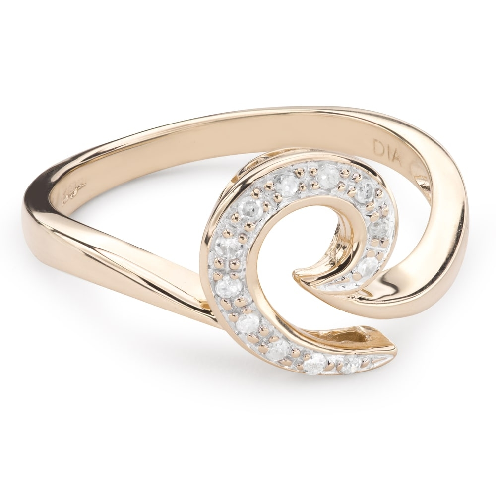"""Gold ring with diamonds """"Life 32"""""""