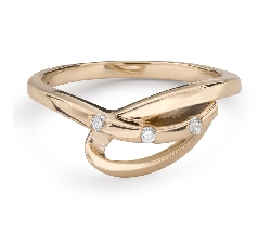 """Auksinis žiedas su briliantais """"Gyvybė 34"""""""