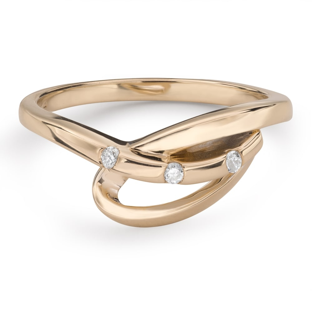 """Gold ring with brilliants """"Life 34"""""""