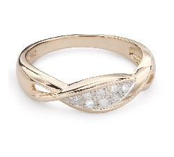 """Auksinis žiedas su deimantais """"Gyvybė 35"""""""