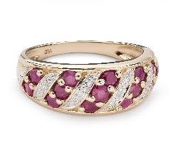 """Auksinis žiedas su brangakmeniais """"Rubinas 43"""""""