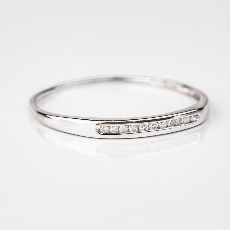 """Auksinis žiedas su Briliantais """"Deimantinė juostelė"""""""