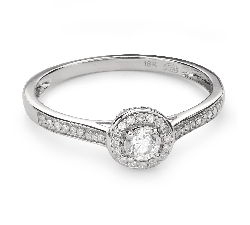 "Engagement ring with diamonds ""Bouquet of diamonds 50"""