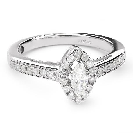 """Auksinis žiedas su deimantais """"Karūna 21"""""""