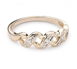 """Gold ring with diamonds """"Life 38"""""""