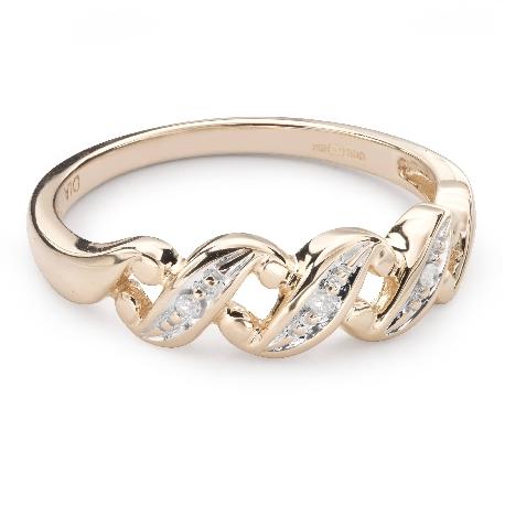 """Auksinis žiedas su deimantais """"Gyvybė 38"""""""