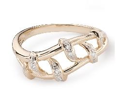 """Auksinis žiedas su deimantais """"Gyvybė 39"""""""
