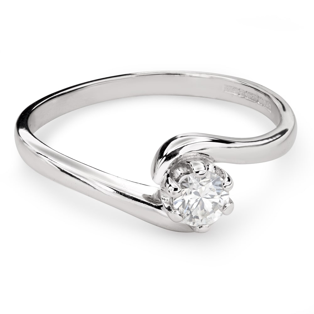 """Engagement ring with brilliant """"In love 44"""""""