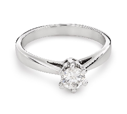 """Engagement ring with brilliant """"The only one 110"""""""