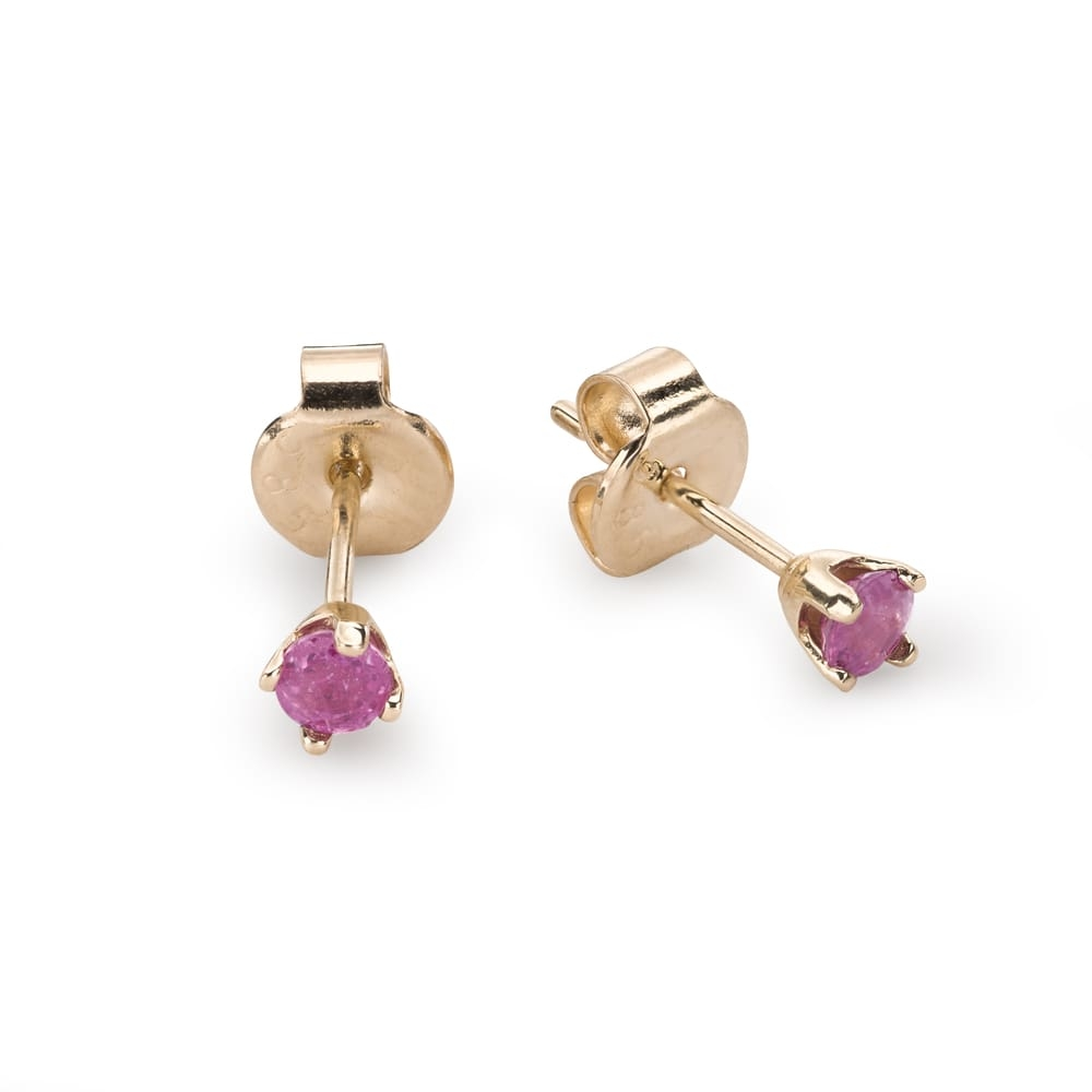 """Gold earrings with gemstones """"Colors 70"""""""