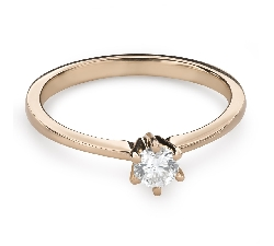 """Engagement ring with brilliant """"The queen 37"""""""
