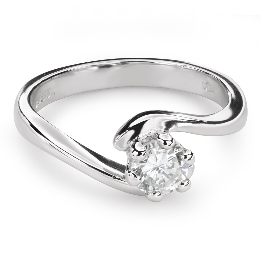 """Engagement ring with brilliant """"In love 45"""""""