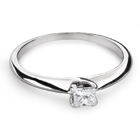 "Engagement ring with diamond ""Princess 79"""