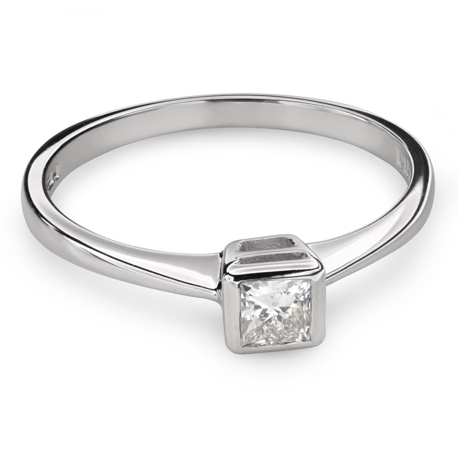 "Engagement ring with diamond ""Princess 81"""