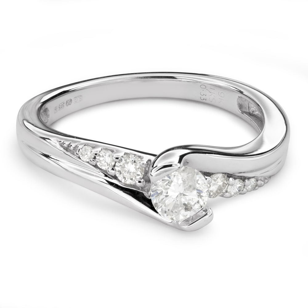 """Engagment ring with brilliants """"Hurricanes 35"""""""