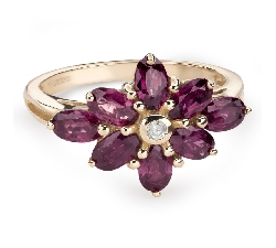 "Gold ring with gemstones ""Colors 75"""