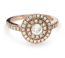 "Engagment ring with brilliants ""Bouquet of diamonds 51"""