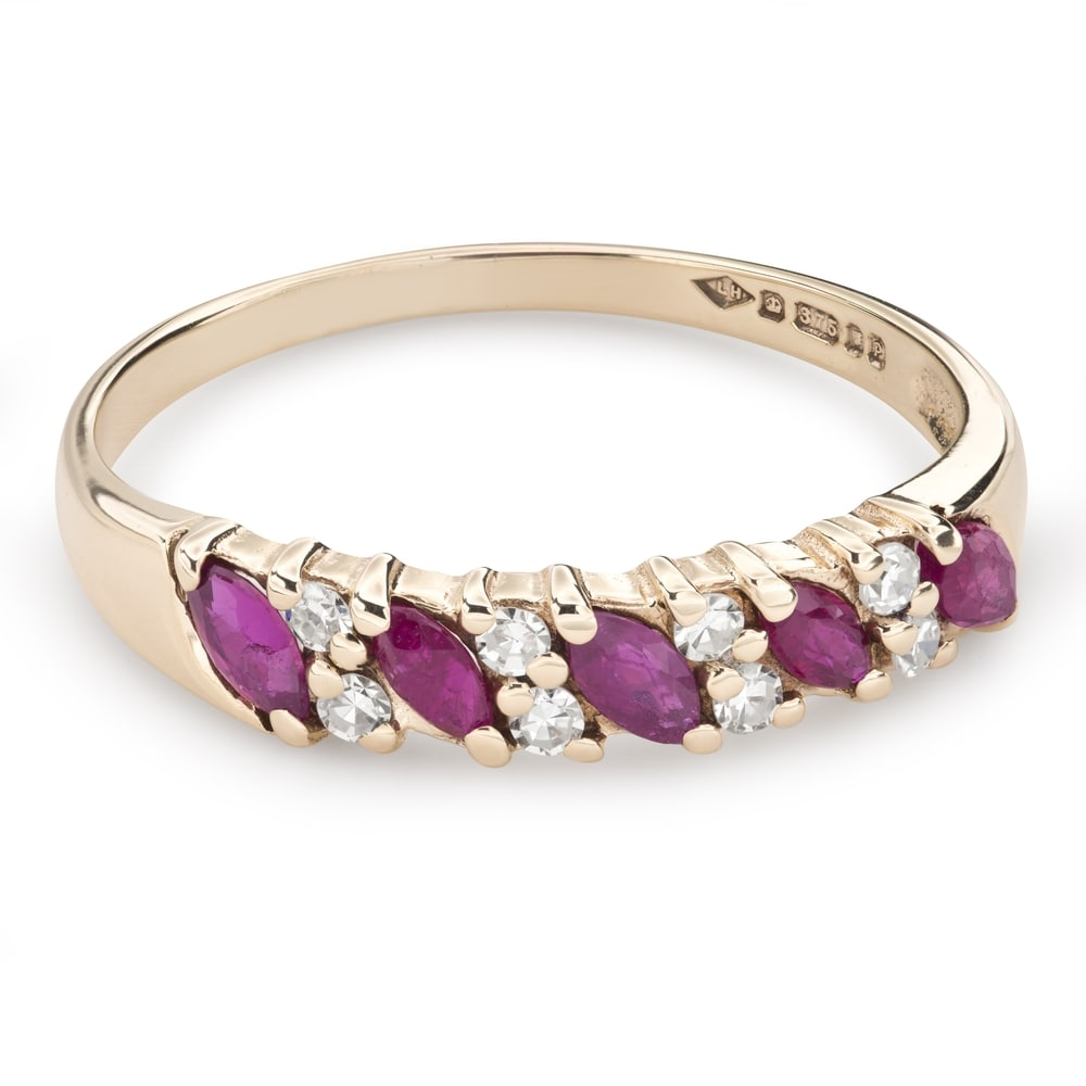"""Gold ring with gemstones """"Colors 79"""""""