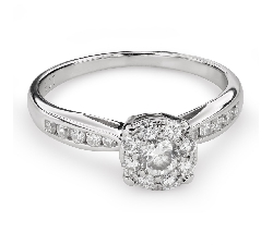 "Engagment ring with brilliants ""Bouquet of diamonds 52"""