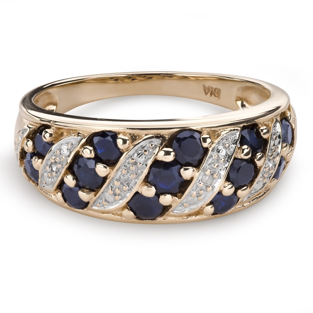 """Gold ring with gemstones """"Colors 80"""""""