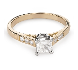 """Engagement ring with diamonds """"Princess 81"""""""