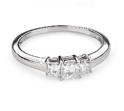 """Auksinis žiedas su deimantais """"Trilogija 37"""""""