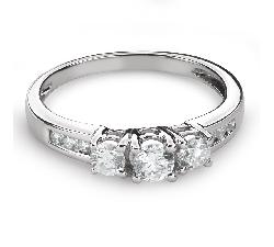 """Auksinis žiedas su briliantais """"Trilogija 40"""""""