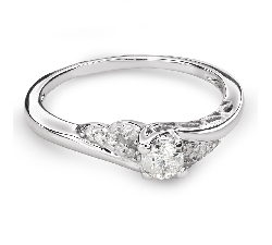 "Engagement ring with diamonds ""Hurricanes 36"""