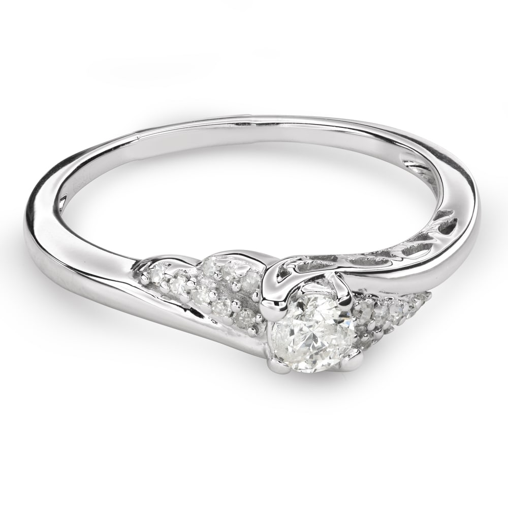 """Engagement ring with diamonds """"Hurricanes 36"""""""