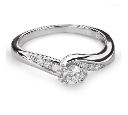 """Engagment ring with brilliants """"Hurricanes 37"""""""