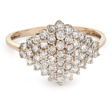 """Auksinis žiedas su briliantais """"Karūna 22"""""""