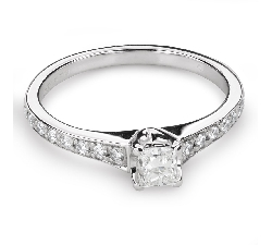 """Engagement ring with diamonds """"Grace 124"""""""