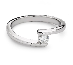 """Engagement ring with brilliant """"In love 47"""""""