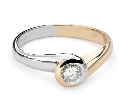 """Engagement ring with brilliant """"Between the rocks 31"""""""