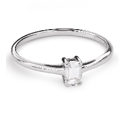 "Engagement ring with diamond ""Strength 104"""