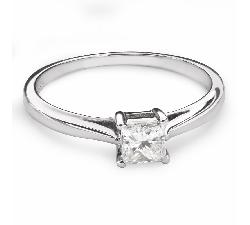 "Engagement ring with diamond ""Princess 84"""