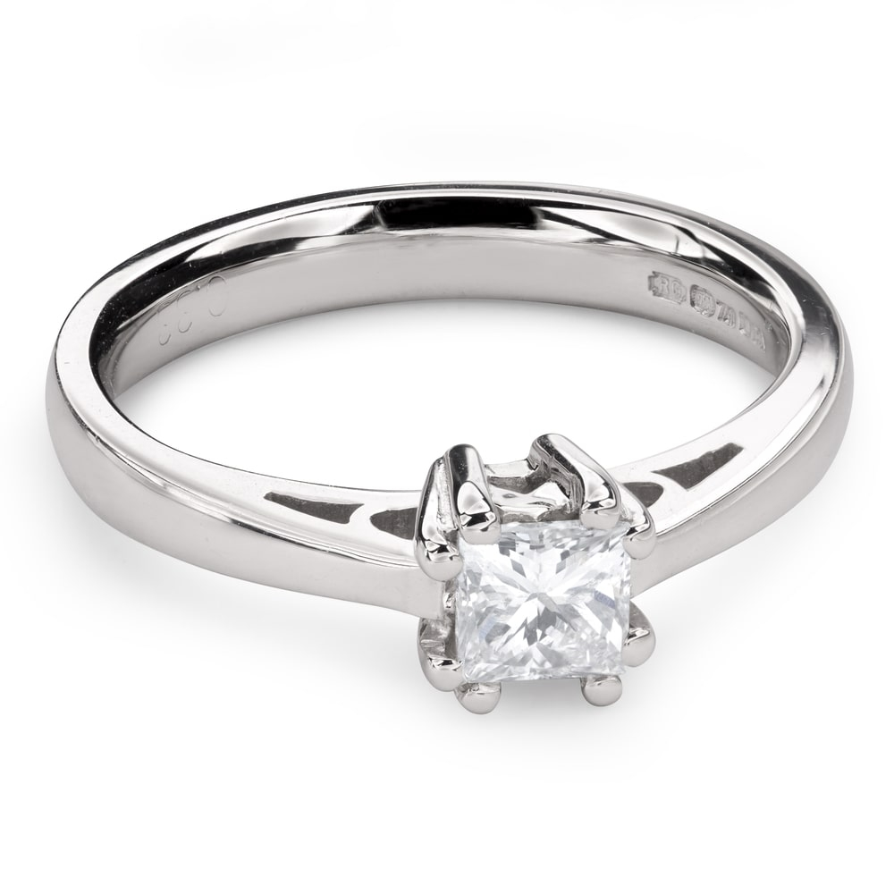 "Engagement ring with diamond ""Princess 85"""