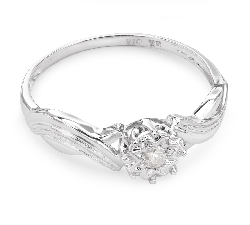 """Engagement ring with brilliant """"Lover 132"""""""
