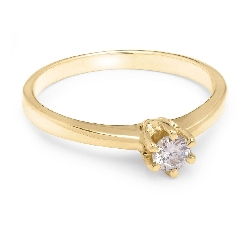 """Engagement ring with brilliant """"The queen 41"""""""