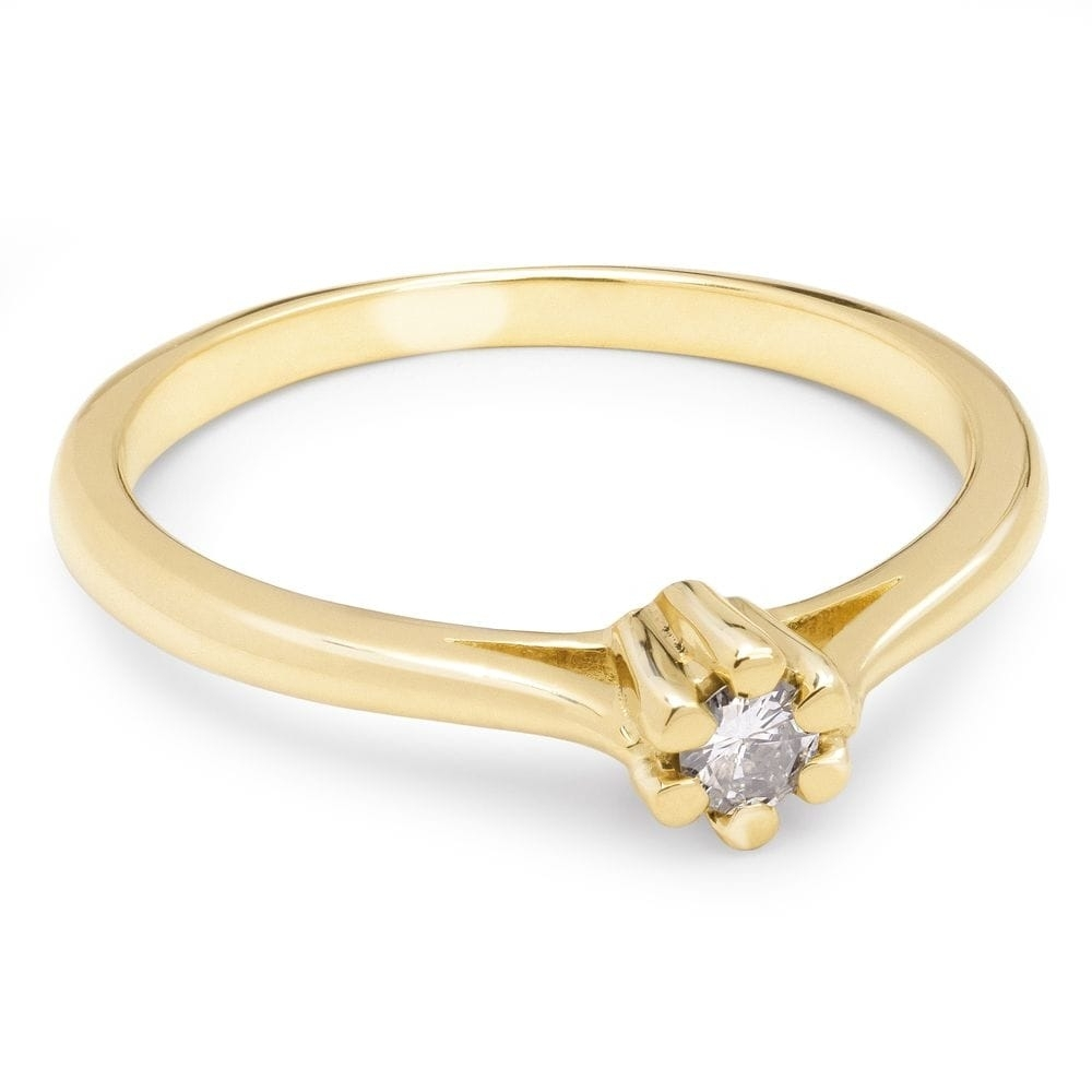 """Engagement ring with brilliant """"Purity 38"""""""