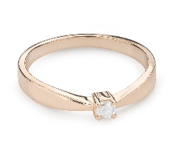 """Engagement ring with brilliant """"Goddess 131"""""""